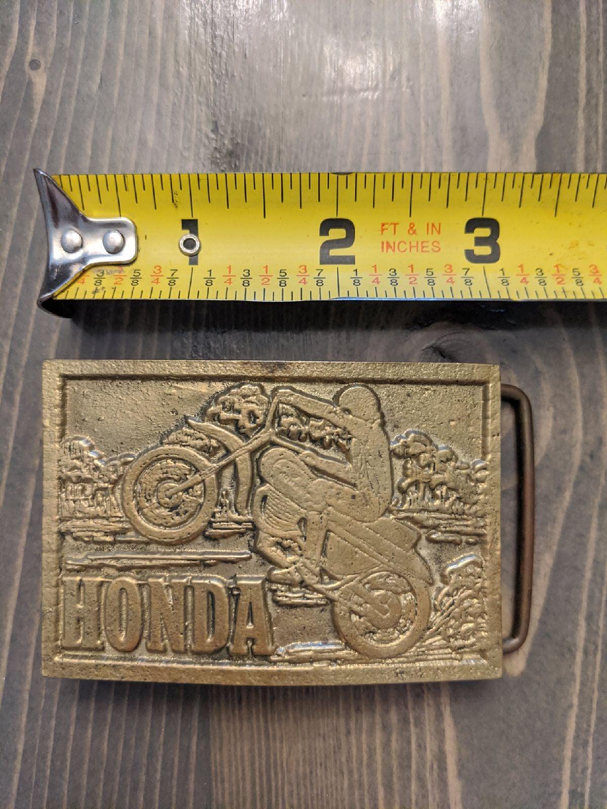 Vintage Honda motorcycle belt buckle