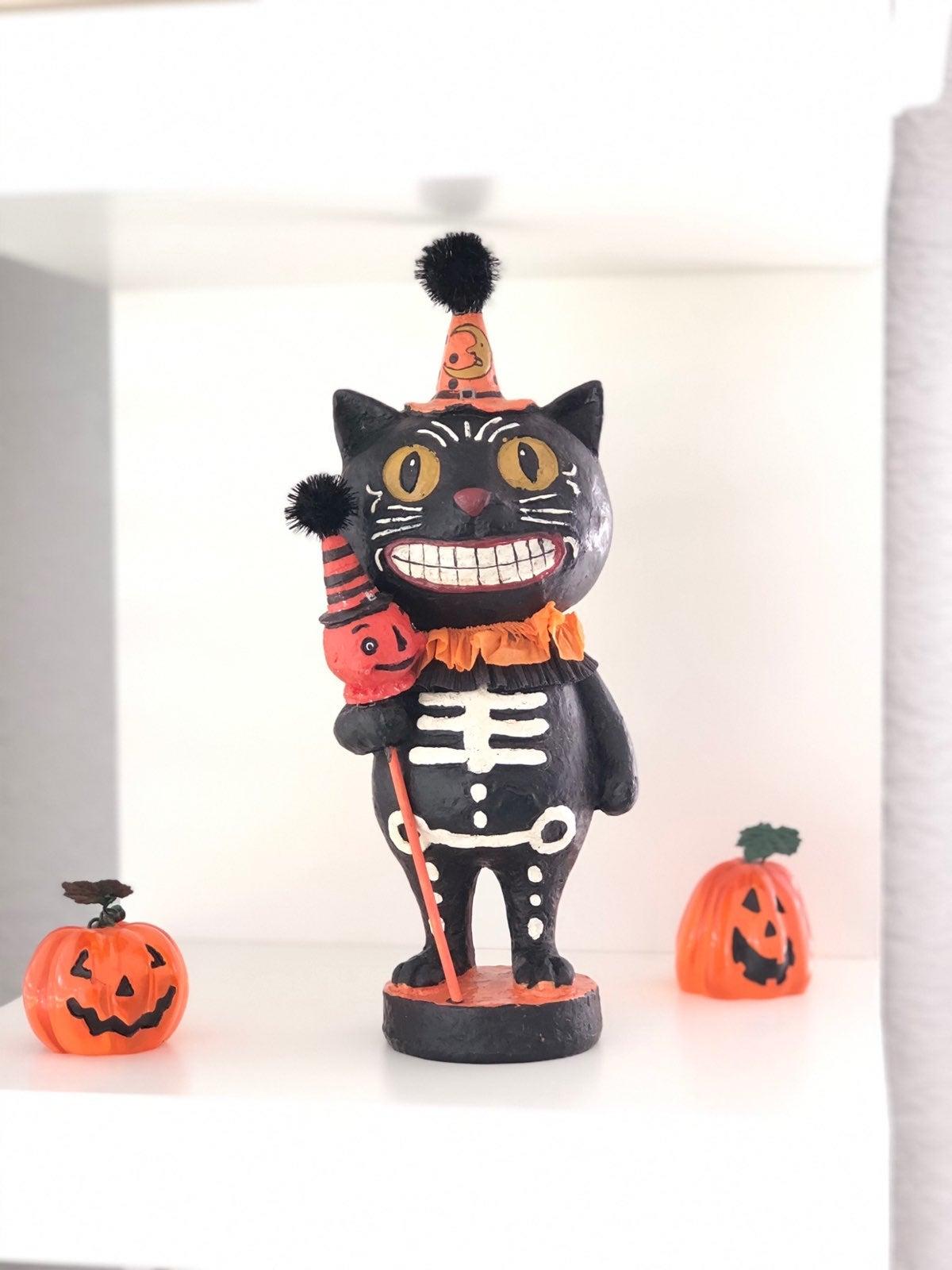Vintage Halloween Black Cat Figurine