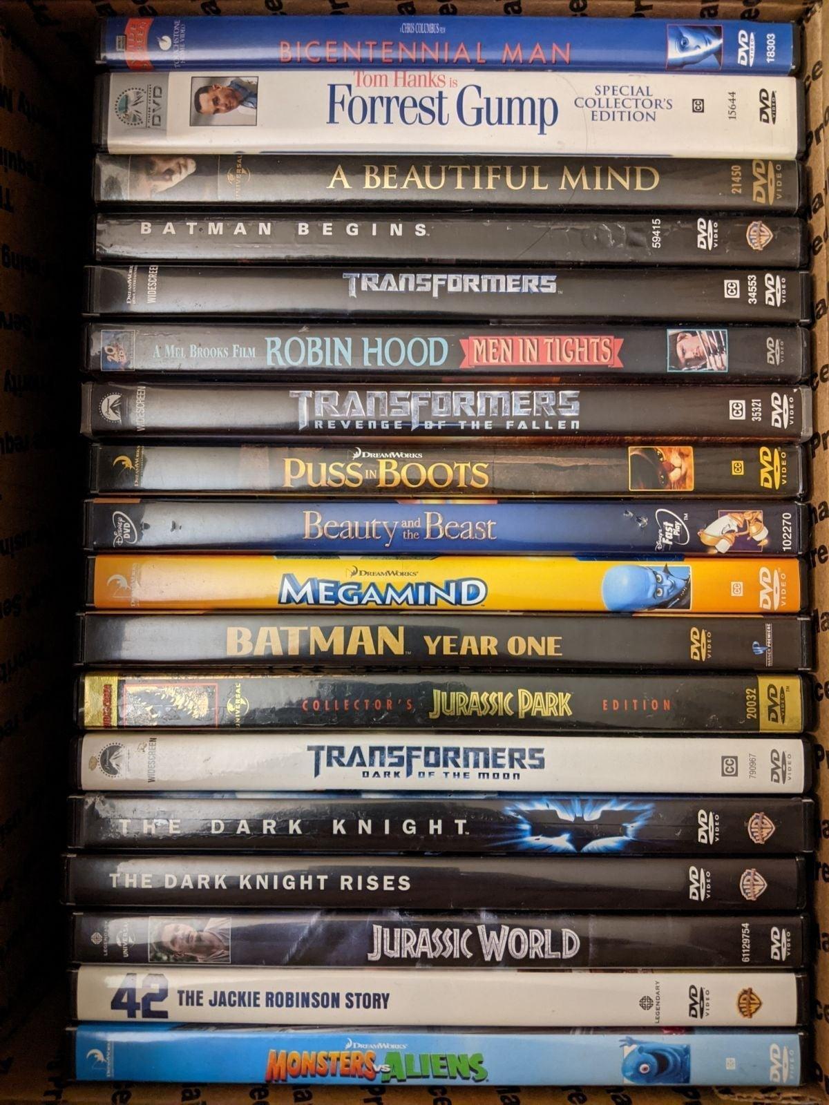 Mixed DVD Movie Lot
