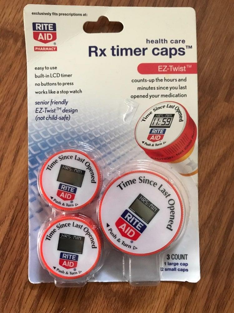 RX Timer Cap Pill Bottle Cap