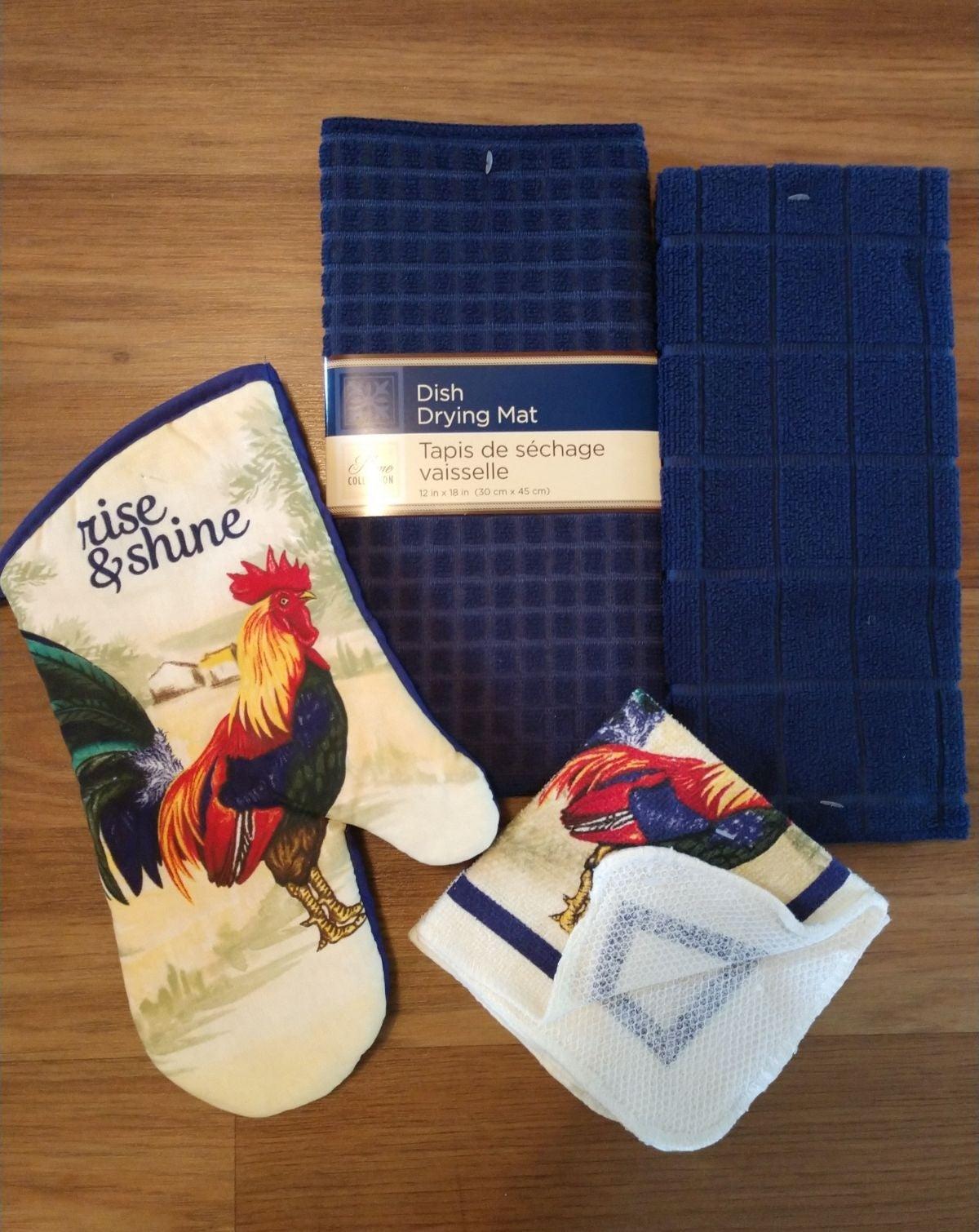 Navy Blue Farmhouse Towel Set