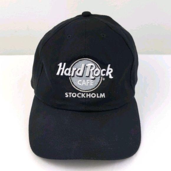 Black, White & Gray Hard Rock Cafe Stockholm hat (Unisex)