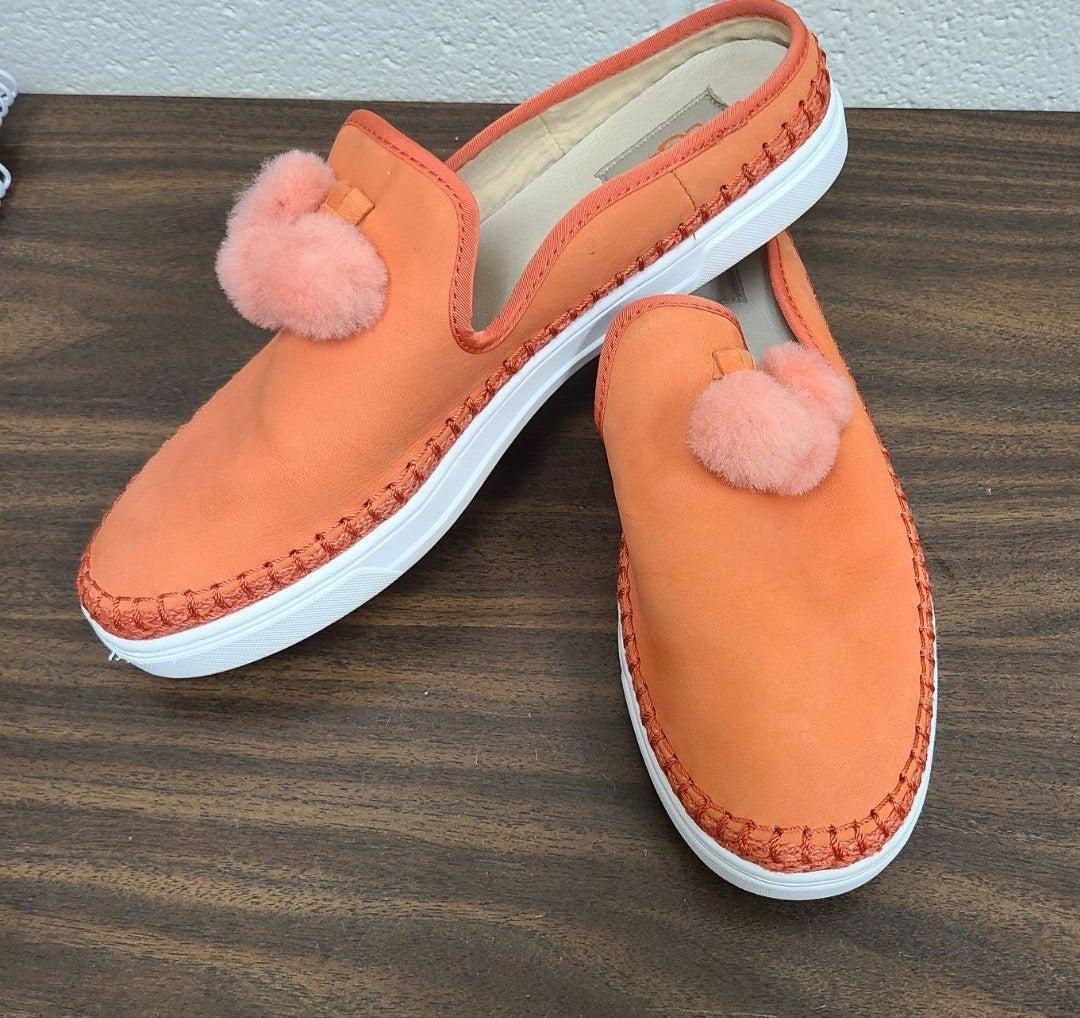 UGG pom pom puff slip on sneakers sz 10