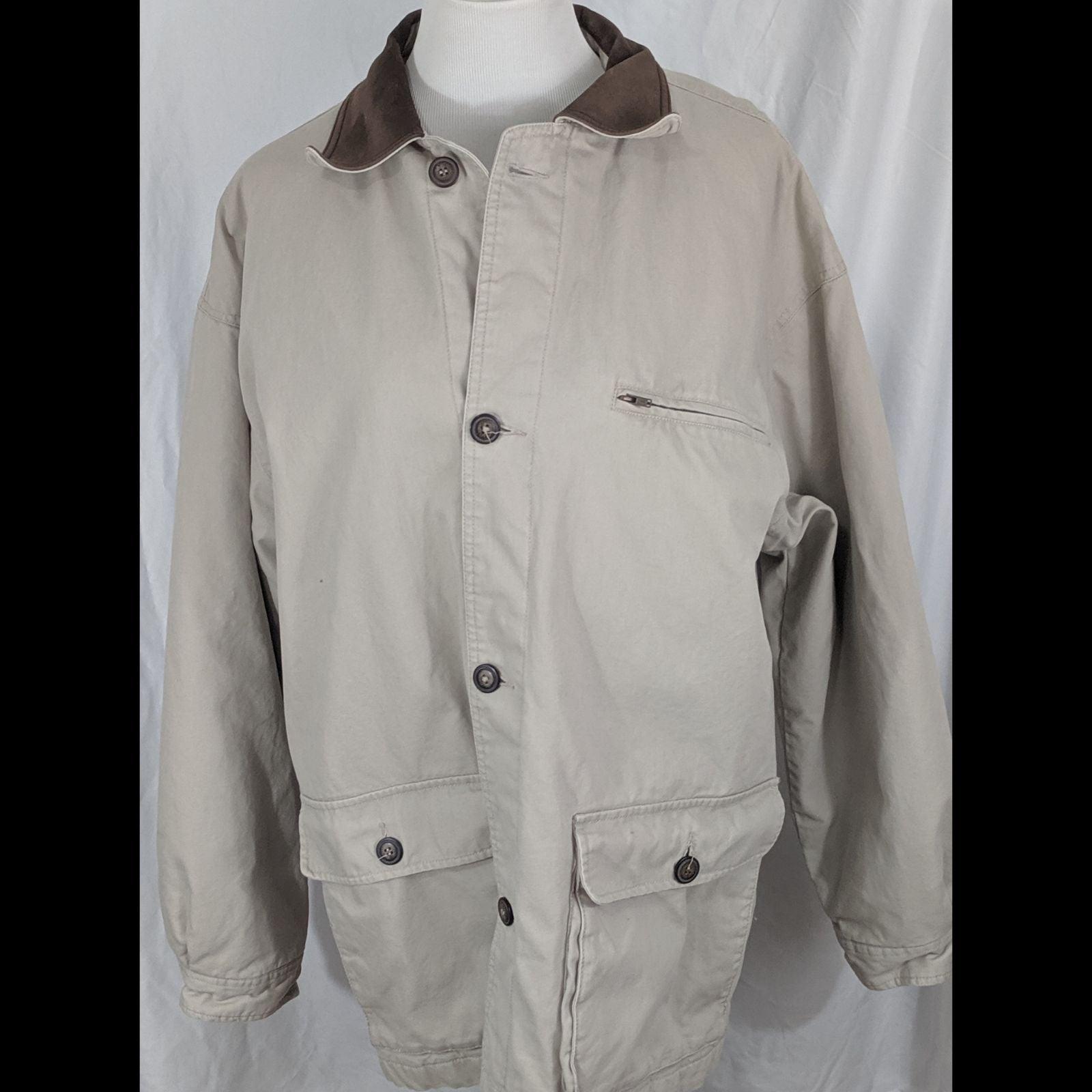 Geoffrey Beene Tan Coat Size Large