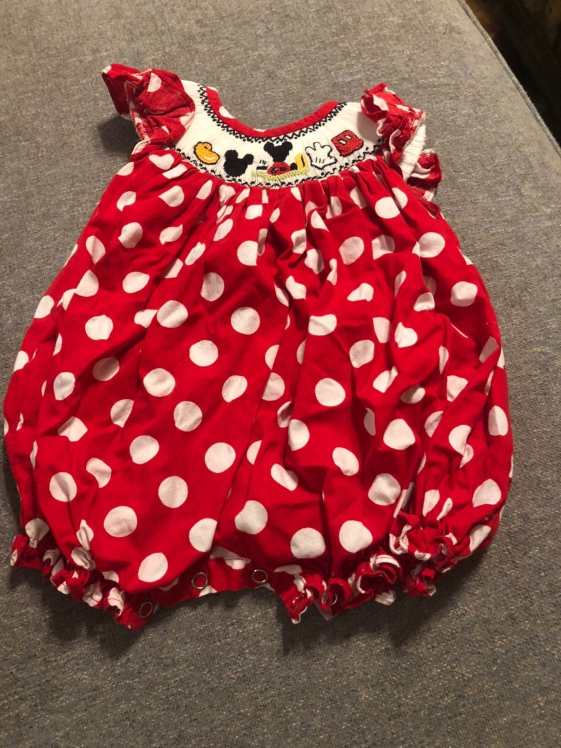 Smocked mickey bubble