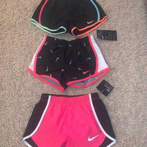 NEW Nike Girls 4T Set of three shorts