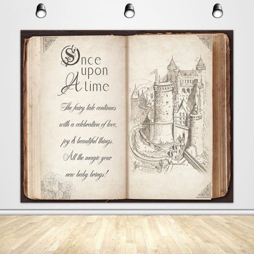 Once Upon a Time Story Book Backdrop
