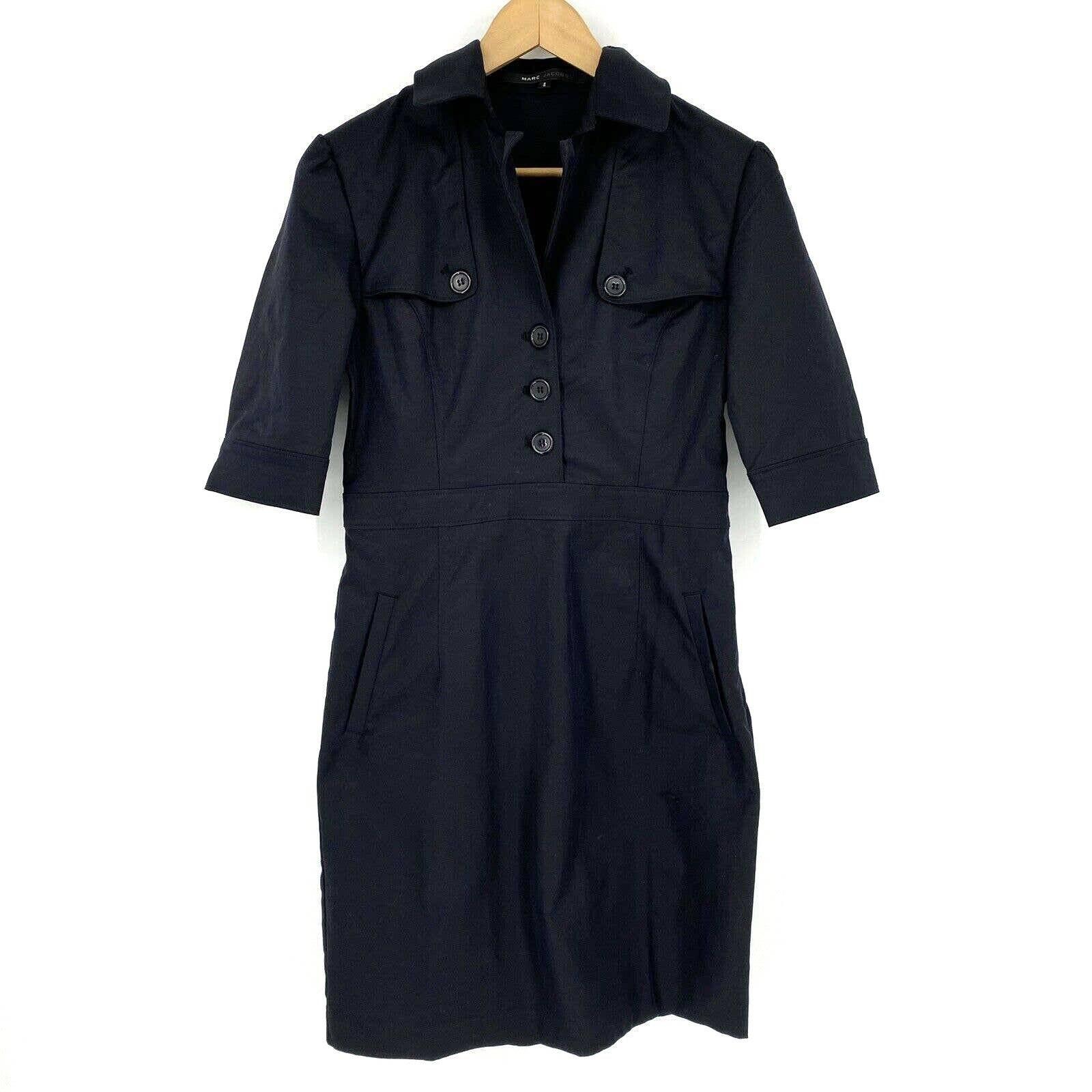 Marc Jacobs Shirt Dress Sheath Stretch
