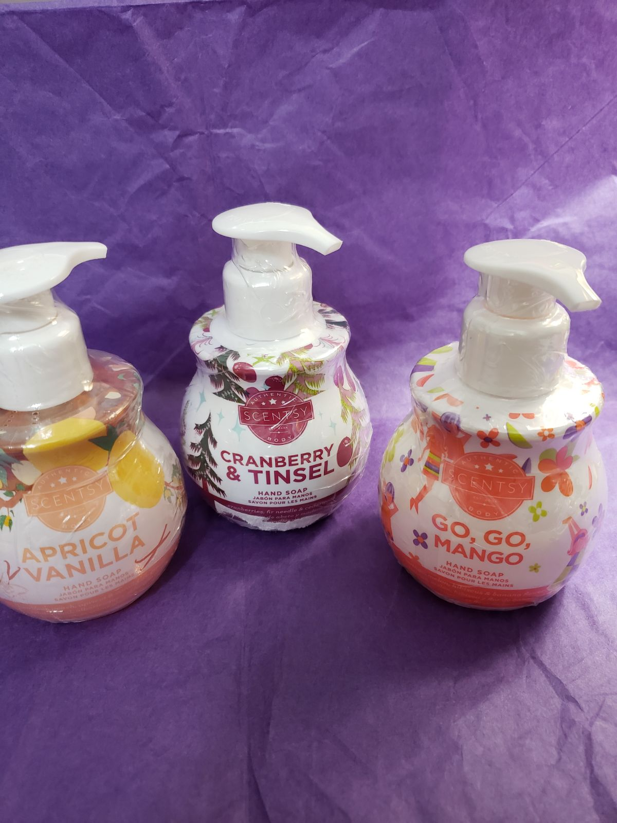 7 scentsy hand soaps