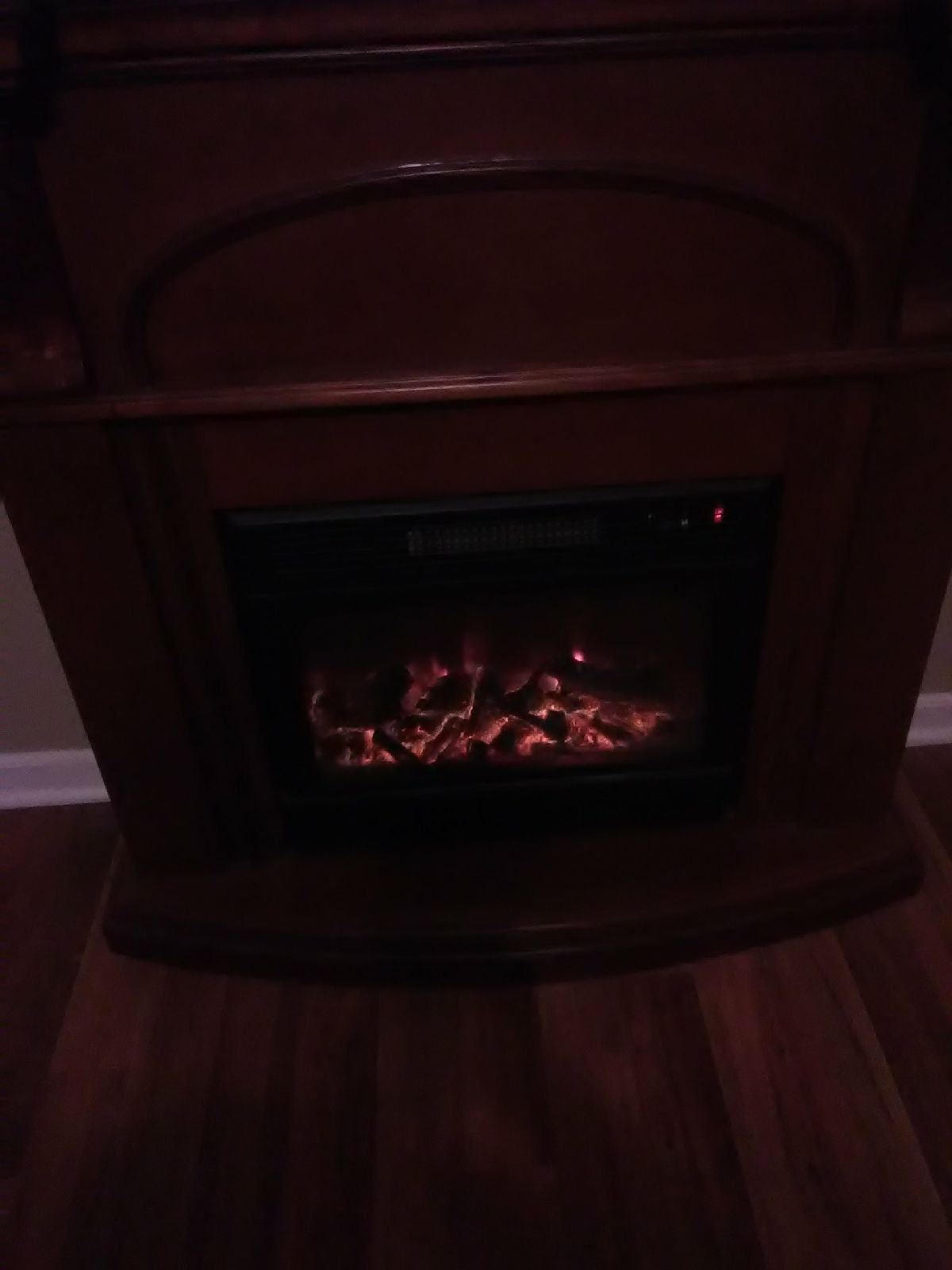 Cherry Wood Fireplace