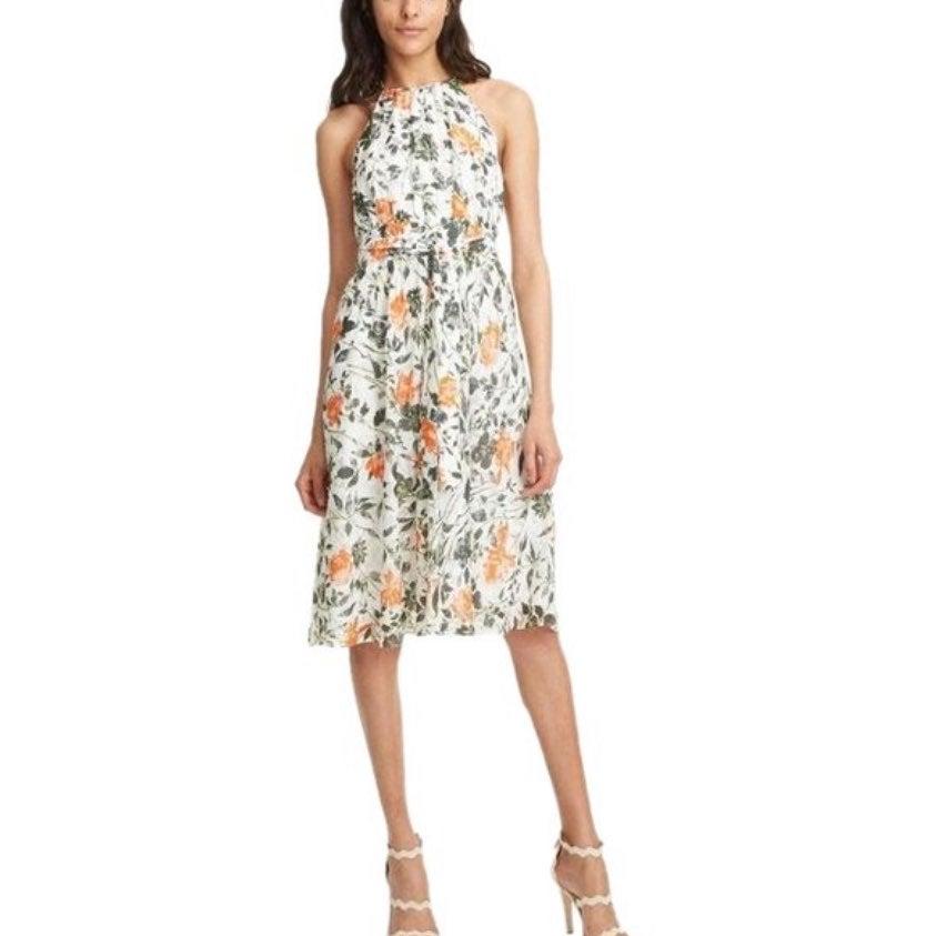 Club Monaco Floral Halter Dress