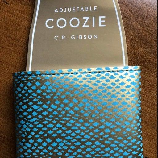C.R. Gibson bottle koozie snakeskin styl