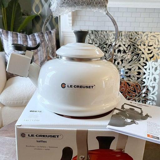 LARGE white Le Creuset tea kettle 1.7 qt