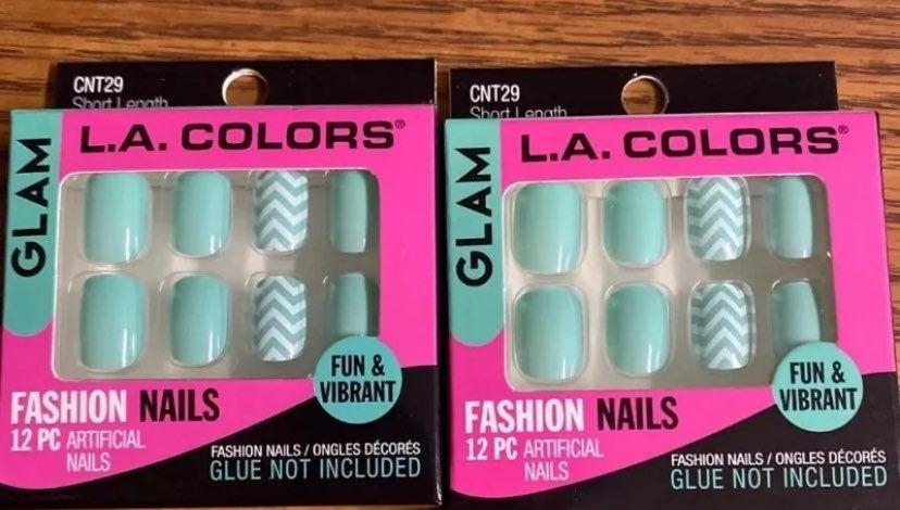 L.A. Colors neon green nails