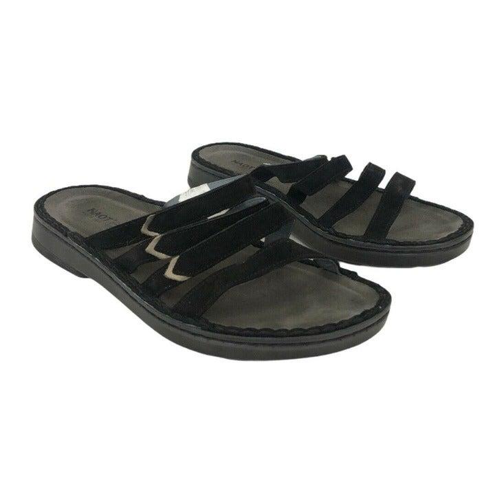 Naot Size 42 US 11-11.5 Black Sandals