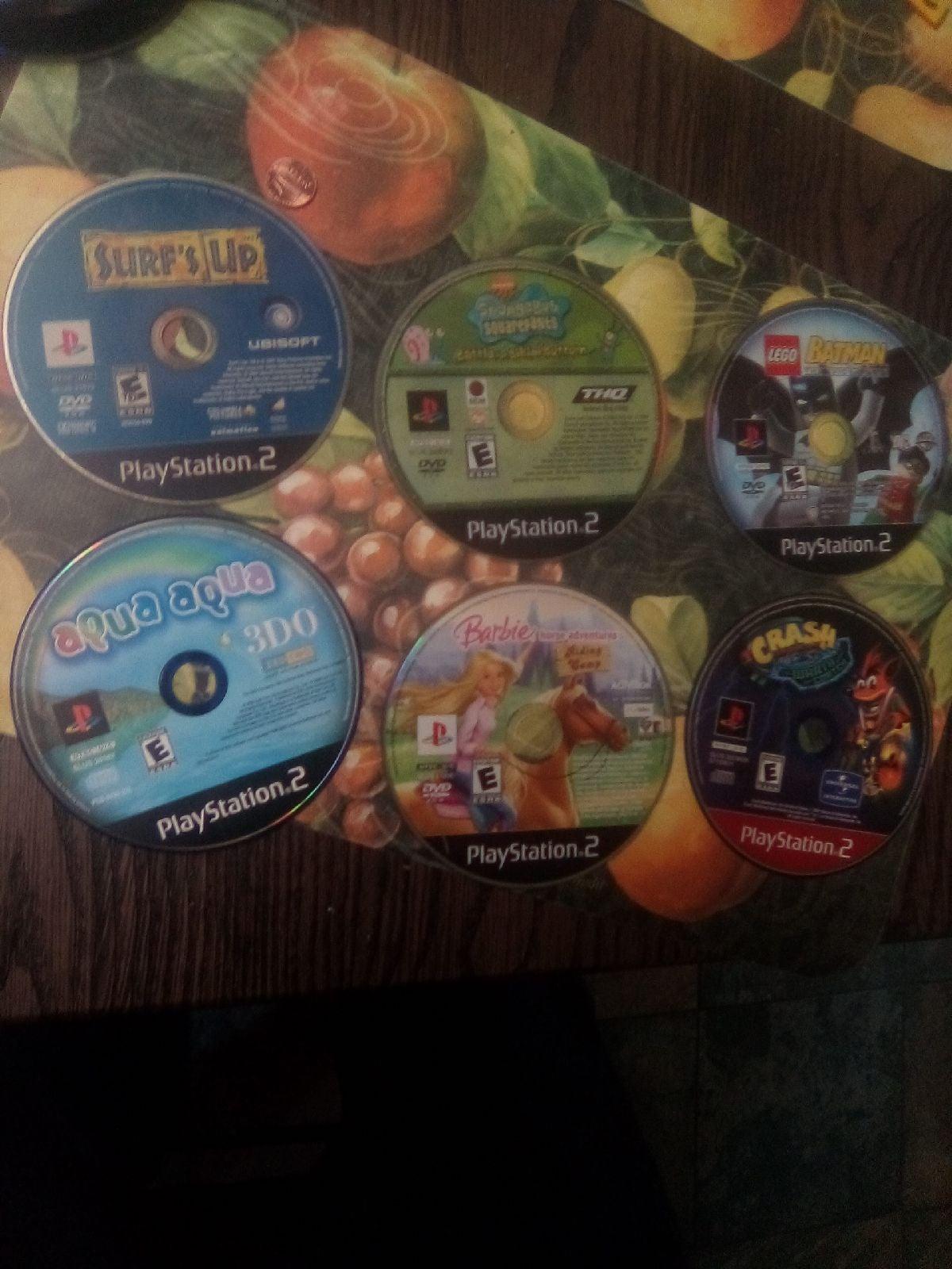 Lot of 6 Fun Kids Games PS2