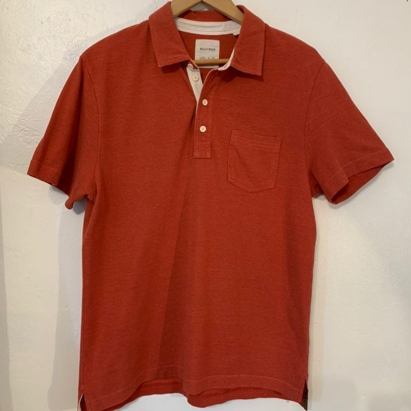 Billy Reid cotton polo in rust Size M