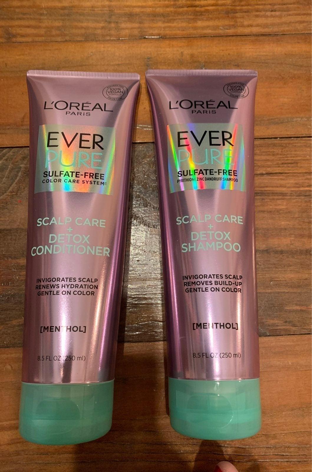 Loreal Ever Pure scalp care detox duo