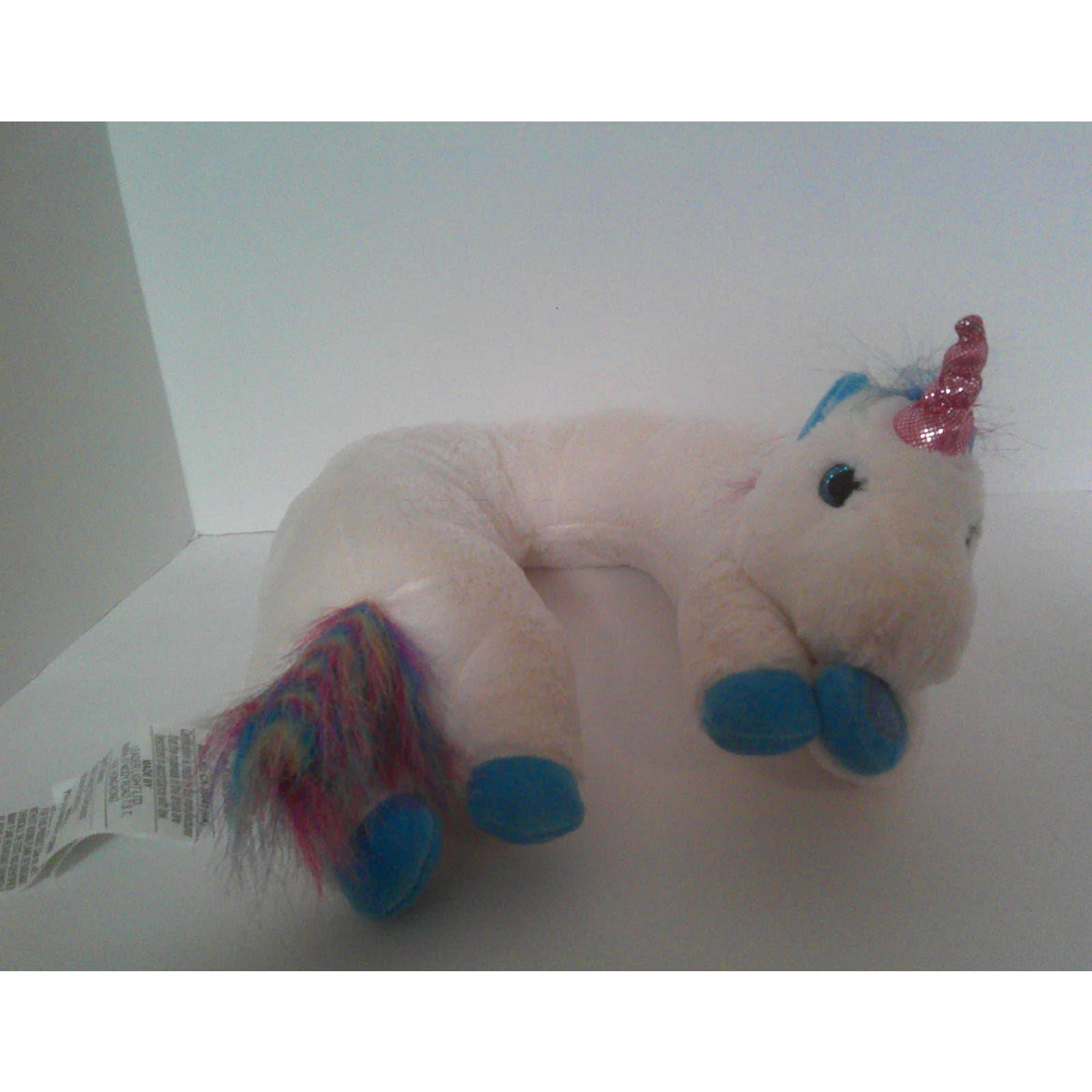 White Unicorn Neck Massager Plush Pillow