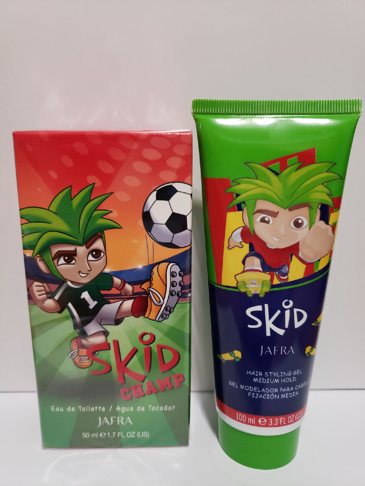 Jafra Skid Champ fragance for boys and H