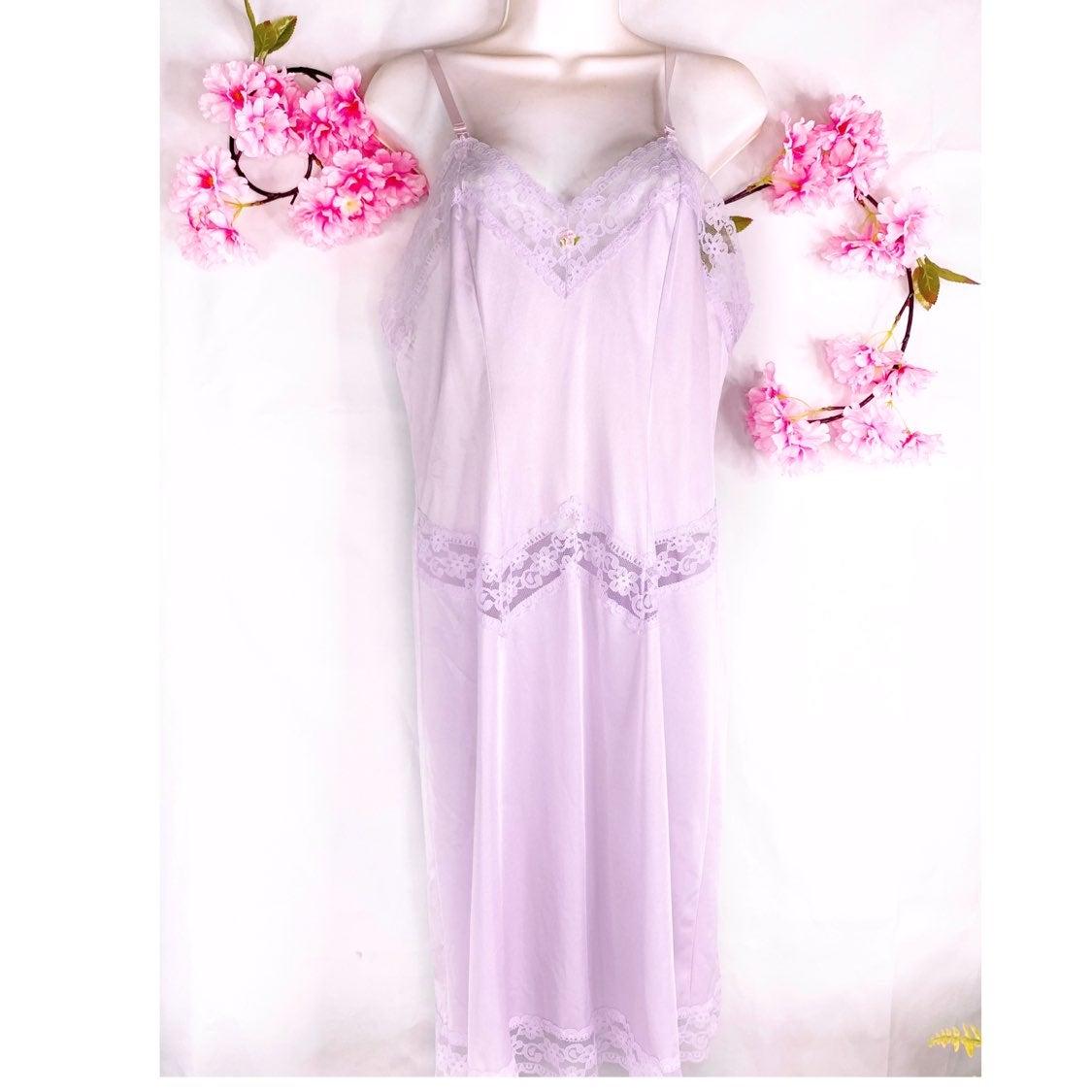 Vintage Lilac Full-Length Full Slip