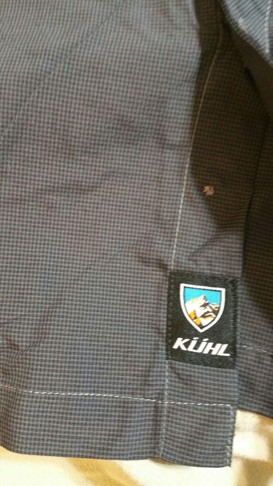kuhl large men's hiking shirt l