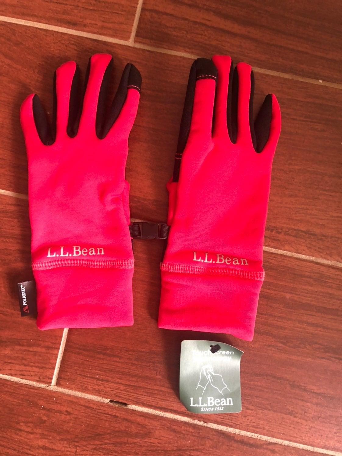 LL Bean womens Polartec texting gloves