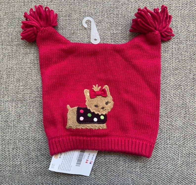 NWT Gymboree Yorkie Puppy Sweater Hat