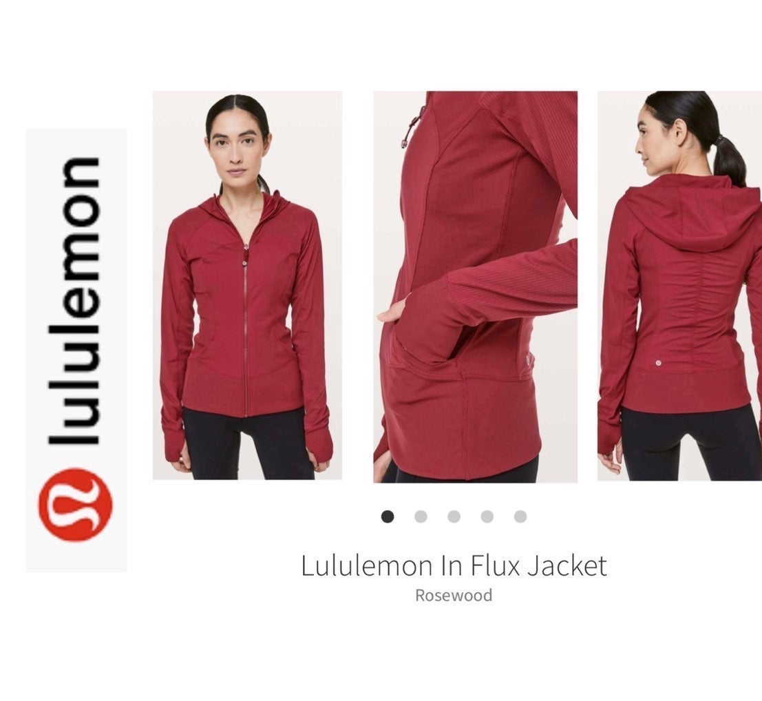 Lululemon In Flux Jacket. Burgundy 10