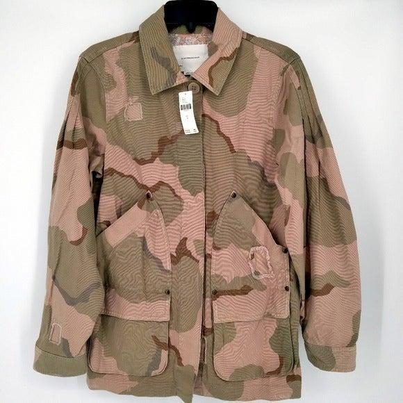 Anthro Lida Camo Anorak Utility Jacket S