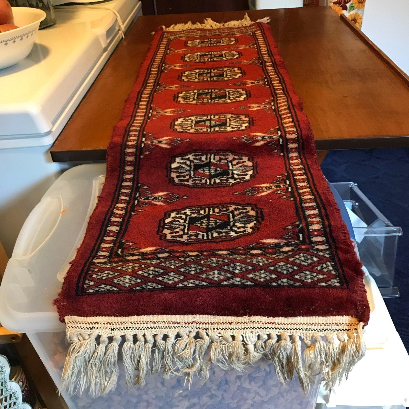 hand woven carpet rug / table runner