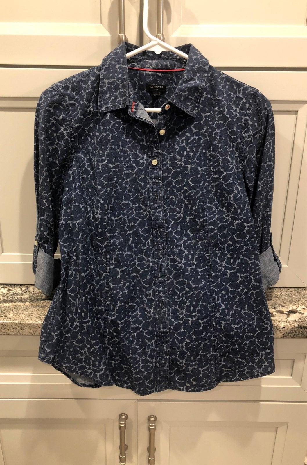 Talbots denium style shirt