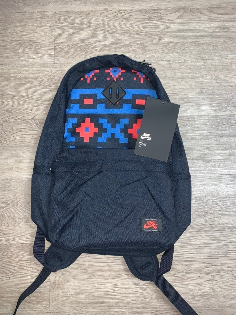 Nike SB Icon Backpack Blue / Aztec Print