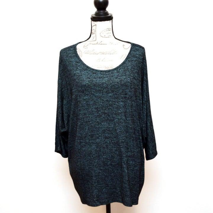 Bobbie Brooks Knit Top 3X Blue Stretchy