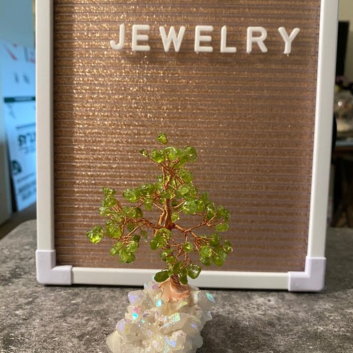 Natural Peridot Wishing Tree