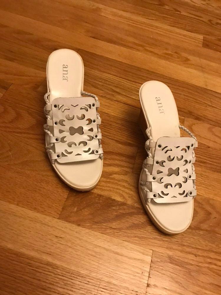 Ana white sandals