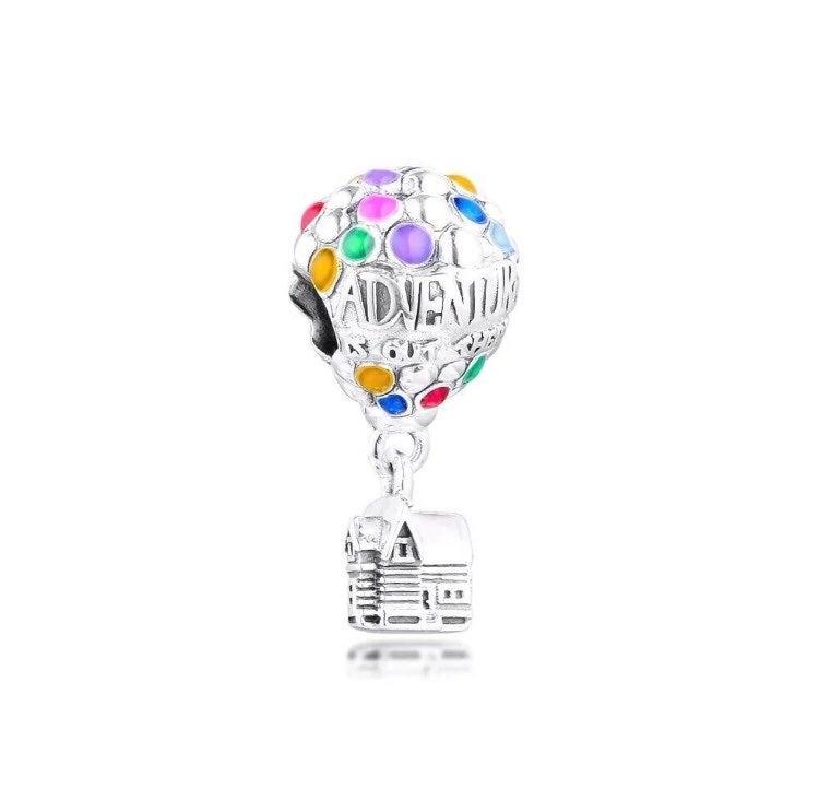 Silver Disney Up Balloon House Charm