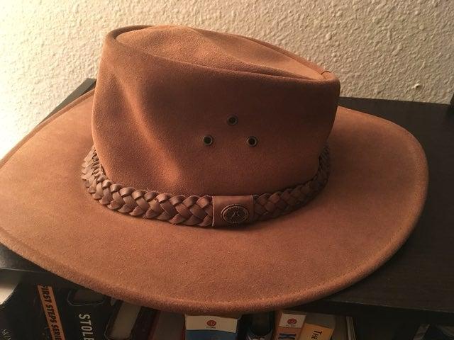 Australian Leather Cowboy Hat Kakadu