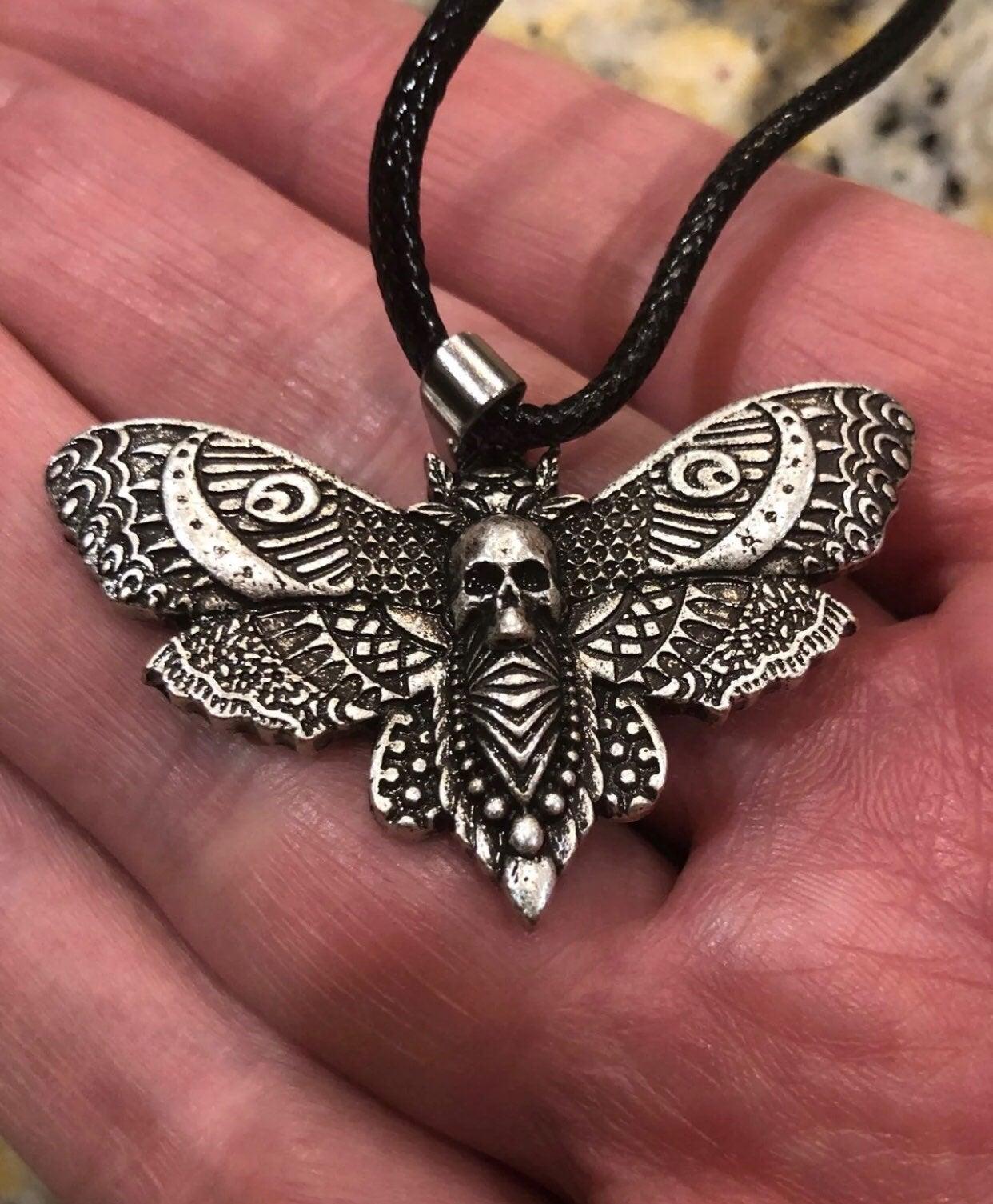 Death's head hawk moth pendant