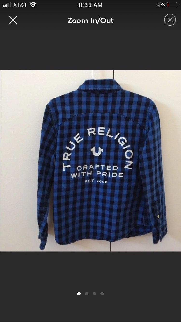 True Religion Blue Flannel 5T