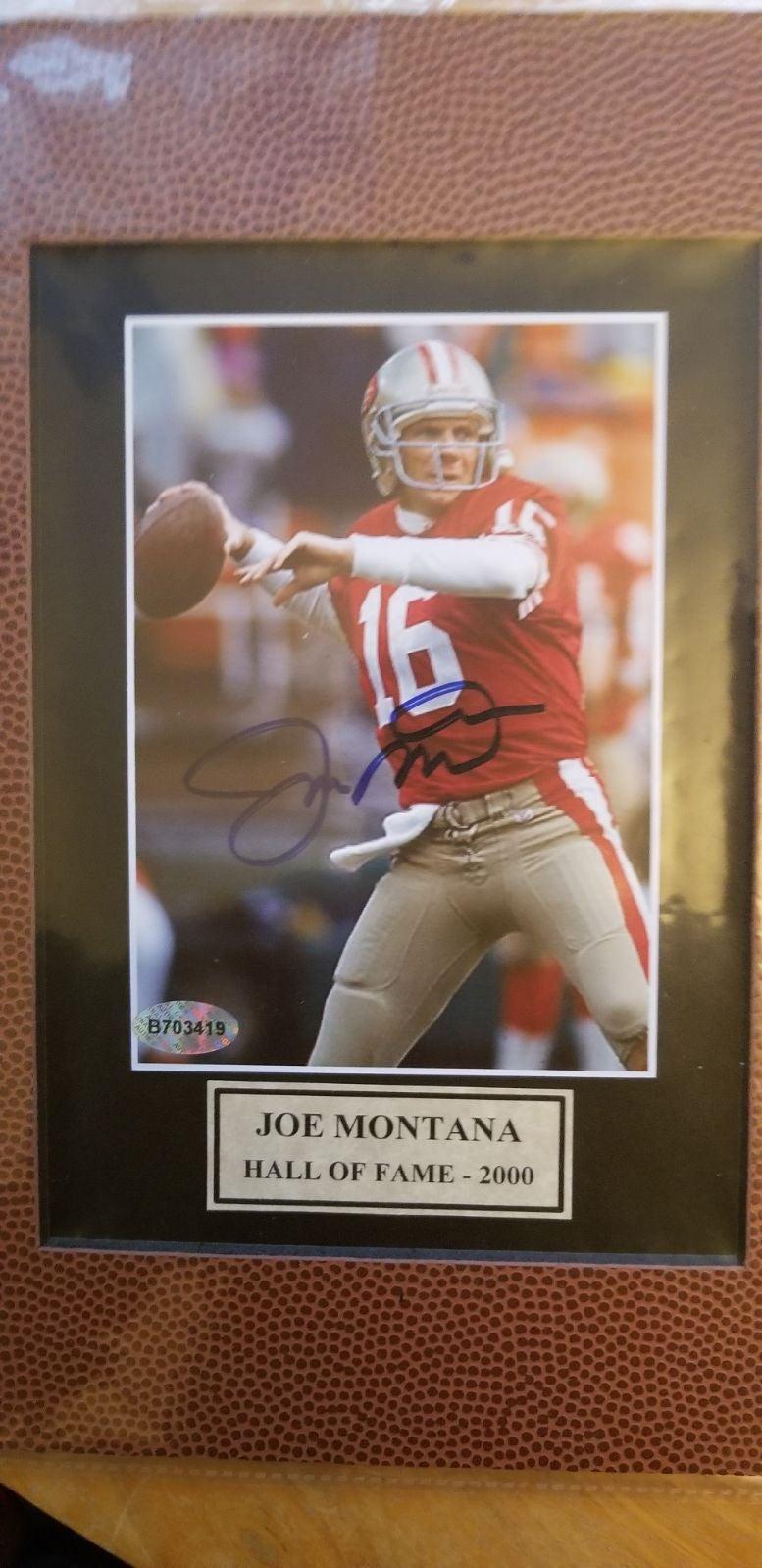 8×10 of Joe Montana