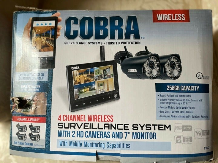 Cobra 4 Channel Wireless Security System