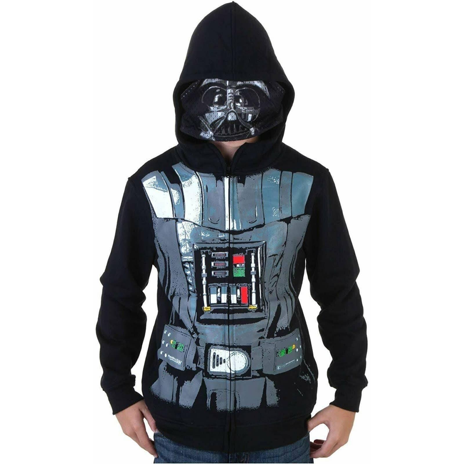 Star Wars Darth Vader Full Zip Costume Hoodie Jacket, Boys Sz 4 NWT