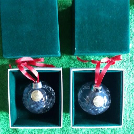 Set of Ruckl crystal Christmas ornaments