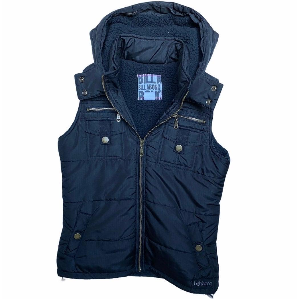 Billabong Full Zip Puffer Vest w/ Hood