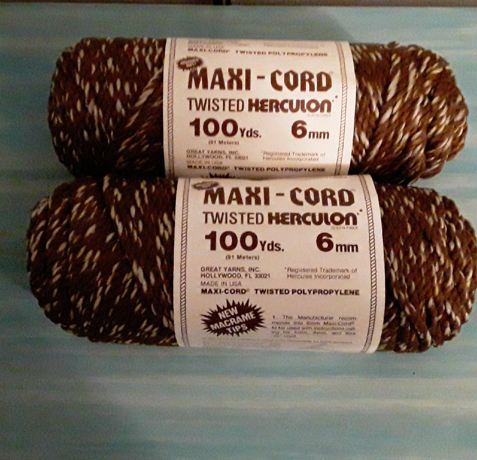 Vintage Maxi-Cord Twisted Herculon 6mm