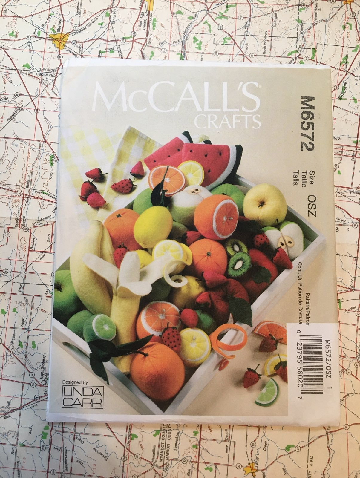 Pattern to make Fruit from McCall's
