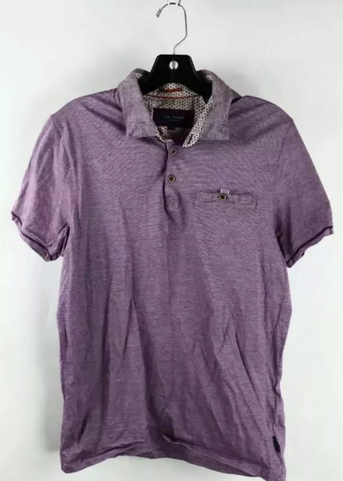 Ted Baker Purple Polo Sz 4 Small
