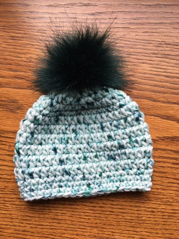 Newborn Speckled Green Winter Hat