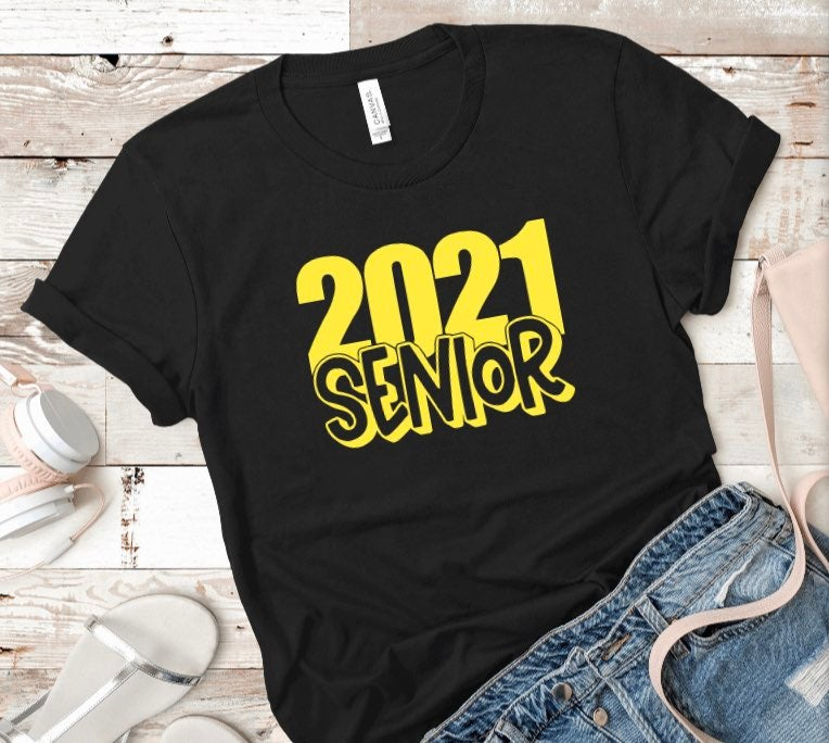 Large 2021 Senior Unisex T shirt